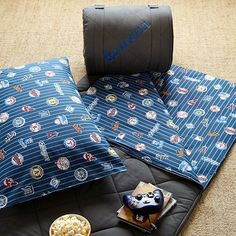 jackson would love the MLB™ Sleeping Bag & Pillowcase - American on pbteen.com