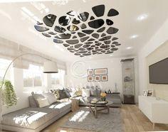 Натяжные потолки STELEROB Partition Design, Pop Design, Ceiling Design, Decoration, Cabinets, House Design, Interiors, Living Room, Interior Design