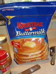 Muffins from Krusteaz Pancake mix - easy!