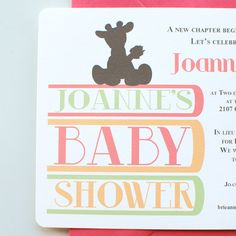 Custom Printable Book Theme Baby Shower invite by chalkanddot, $15.00