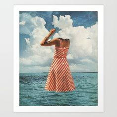 """As featured on the album 'Singles' by FUTURE ISLANDS<br/> """"Float""""- Print of original collage<br/> © Beth Hoeckel<br/> See more at www.bethhoeckel.com"""