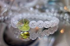 X-MOMO / Náramok SRDCE - praskaný krištáľ, sklo Moma, Diamond Earrings, Jewelry, Jewlery, Jewerly, Schmuck, Jewels, Jewelery, Diamond Drop Earrings
