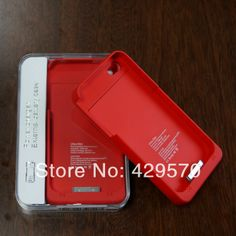 for iphone 4s battery case integrated Stand holder,External backup Battery Charger Case for iPhone 4 4s free shipping 20 pcs $175.00