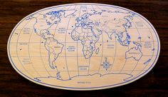 Planisphere made of Birch plywood thickness 10 mm.The map is engraved on wood. The picture could be useful  as wall decor for: representative offices, restaurant /shop.... Material: birch plywood 10 mm thick Dimensions (length x width): 74.5 x 44 cm Weight: 4kg.  On request it is possible to customize the product by varying the engraving theme, size, and colors. For information and free estimates call +39 051945785 or send an email to g.nusfurniture@gmail.com .