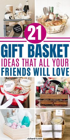 21 Genius DIY gift basket ideas your friends and family will love! These DIY gift baskets are perfect for ANY occasion! Check them out! basket ideas for friends 21 DIY Gift Baskets That Are Perfect For Any Occasion Get Well Gift Baskets, Family Gift Baskets, Thank You Gift Baskets, Creative Gift Baskets, Cookie Gift Baskets, Diy Gift Baskets, Christmas Gift Baskets, Get Well Gifts, Christmas Gifts