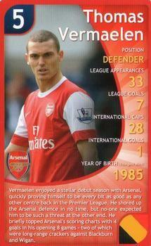 2011 Top Trumps Specials Arsenal #NNO Thomas Vermaelen Front