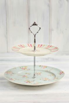 Vintage floral 2 tier cake stand  $34.95
