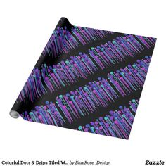 Colorful Dots & Drips Tiled Wrapping Paper