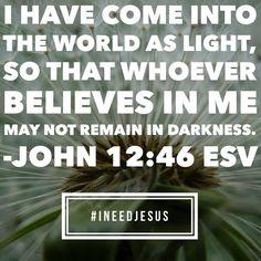 John 12:46 ESV)