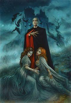Christopher Lee / Hammer Dracula, Greg Staples on ArtStation at https://www.artstation.com/artwork/6ZEDr