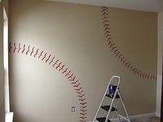baseball wall for boy's room