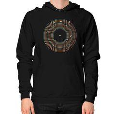 Vinyl music metro record map labyrinth Hoodie (on man)