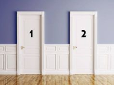 One of these doors opens up to danger, while the other opens to safety, which do you choose?