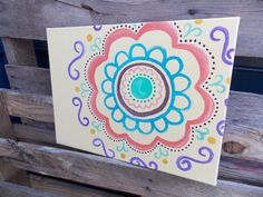 Graphic Concentric Design Canvas by SouthernClothCo on Etsy