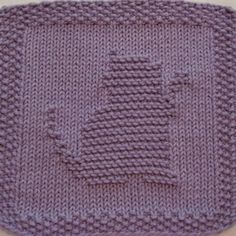 knitted washcloth patterns | ... here: Home > Shop > Products > Kitty Playing Knit Dishcloth Pattern