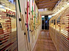 Camper shop installation by François Dumas, Paris store design Camper Store, Stand And Deliver, Paris Store, Paris Design, Wall Fixtures, Retail Shop, Wall Treatments, Commercial Interiors, Retail Design