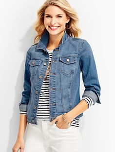 Talbots - The Classic Denim Jacket-Bluebell Wash | | Discover your new look at Talbots. Shop our The Classic Denim Jacket-Bluebell Wash for stylish clothing and accessories with a modern twist at Talbots