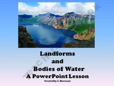 Earth Science-Landforms and Bodies of Water- PowerPoint for Smartboard
