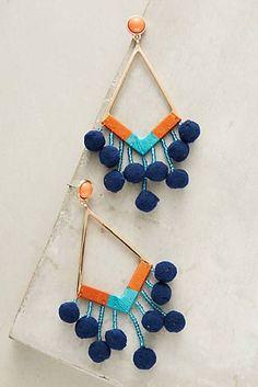 Pom-Drop Earrings