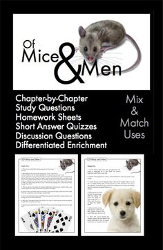mice and men coursework Getting ready to read 'of mice and men' with your students set them up for success with these engaging pre-reading activities in this lesson.