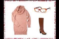 Maxi cardigan con cuello (Ver, $398), botas caña alta y taco (Portsaid, $890), anteojos (Vulk, $535). Foto:Producción Lulu Biaus