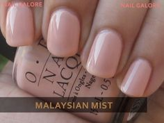 I've been looking for this exact colour. {OPI Malaysian Mist. Good nude color}