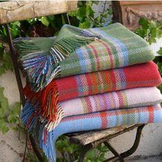 Soft woollen blankets in pretty colours