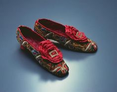 Embroidered Shoes, 1860s | In the Swan's Shadow