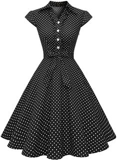 Perfect for rockabilly pinup wedding prom party, punk swing polka prom, lolita costume cosplay club wear,thanksgiving day and christmas party, vintage weekend or goodwood revival WedTrend Women's Retro Rockabilly Dress Cap Sleeve Vintage Swing Dress Look Fashion, Skirt Fashion, Fashion Dresses, Vintage Party Dresses, Vintage Outfits, Dress Vintage, Pretty Dresses, Beautiful Dresses, Retro Mode