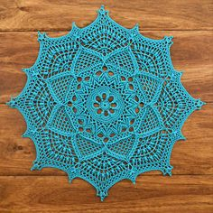 Ravelry: Inara pattern by Grace FearonEmilyandthe -- Handmade crochet centerpieces and patterns by Grace Fearon.This pattern is currently off for the first It will return to full price on July 2018 at EST. While it is being discounted, it does not qu Free Crochet Doily Patterns, Crochet Blocks, Crochet Motif, Knit Crochet, Knitting Patterns, Crochet Tablecloth Pattern, Mandala Crochet, Crochet Afghans, Crochet Blankets