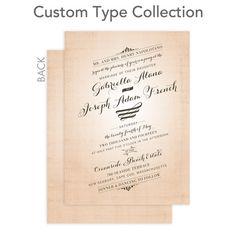 Signature Custom Wedding Invitations - Elegant Tilt by Wedding Paper Divas