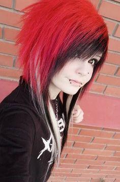 Emo Scene Hair, Red Hair, Punk, Style, Fashion, Swag, Moda, Redheads, Fashion Styles