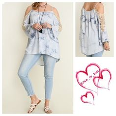 ☀️BOGO 50% OFF SALE☀️ Cold Shoulder Tunic XL,  1X Gorgeous cold shoulder tunic.  Material is a cotton blend. Adjustable shoulder straps. True to size.  ❌No Trades ❌ Price is Firm Unless bundled  Happy Poshing! Tops
