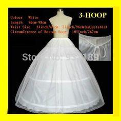 >> Click to Buy << 2017 Hot Sale 3 Hoop Ball Gown Bone Full Crinoline Petticoats For Wedding Dress Wedding Skirt Accessories Slip In Stock #Affiliate