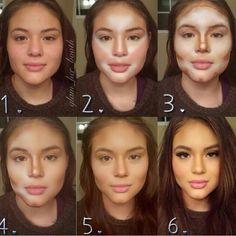 contouring avant et après