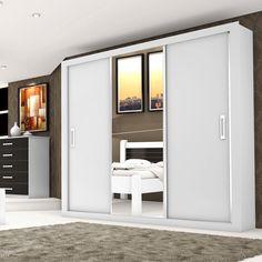 A combinação de espelhos e portas de correr é ideal para ambientes pequenos, já que, proporciona a sensação de amplitude e ocupa pouco espaço. ;) #decoração #design #madeiramadeira