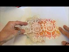 Polymer Clay Veneer Using Chalk Pastel and Lace #4 - YouTube