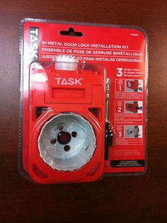 Task Tools BI-METAL DOOR LOCK INSTALLATION KIT T22089 hole saw mandrel pilot bit Hole Saw, Kit, Door Locks, Simple, Doors, Hardware, Ebay, Slab Doors, Computer Hardware