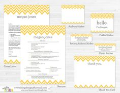 Digital Printable Sorority Recruitment Packet With Resume Added