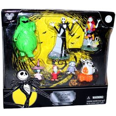 Disney Nightmare Before Christmas Figure Jack Sally Lock Shock Barrel Oogie Zero for sale online Nightmare Before Christmas Toys, Jack And Sally, Barrel, Disney, Painting, Ebay, Art, Art Background, Barrel Roll