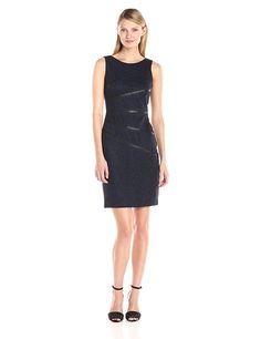 Ivanka Trump Women's Marled Dress with PU >>> If you love this, read review now : Dresses