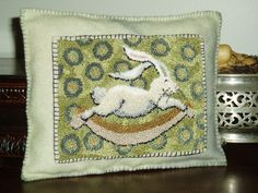 """""""Rockin Rabbit"""" Punch Needle Pattern by Kate Gillery (instant download) available at https://www.etsy.com/shop/briarcottage"""