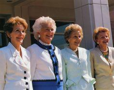 Nancy Reagan, Barbara Bush, Pat Nixon, and Betty Ford