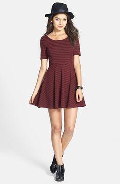 Lush Scoop Back #Skater #Dress #burgundy  Get 5% cash back: http://www.studentrate.com/lakeforest/get-lakeforest-student-deals/Nordstrom-Student-Discounts--/0