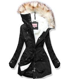 Dámska zimná bunda s kapucňou čierna - Bundy - MODOVO Jackets, Coats, Fashion, Down Jackets, Moda, Wraps, Fashion Styles, Coat, Fashion Illustrations