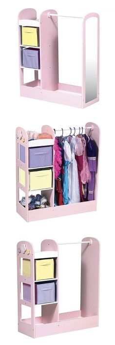 Guidecraft See and Store Dress Up Center Design: Pastel - The See and Store Dress-Up Center from Guidecraft is great for the classroom, nursery school or home. This pretend play clothing wardrobe features three storage units on one side for toys, shoes and d... - Kitchen & Dining Features - Home & Garden - $174.09