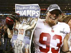 Chase Blackburn. Super Bowl Champ. Former Giant, now Carolina Panther.