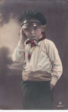 Handsome Edwardian Boy in Sailing Costume..circa door decorables, $10.00