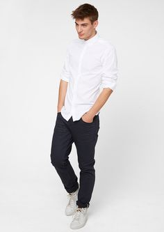 Buy Slim: shirt with a button-down collar | s.Oliver shop