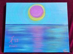 Purple peace Acrylic painting